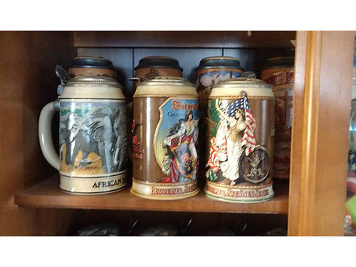 STEIN COLLECTION sets and most with pewter tops call for details 423-276-4109