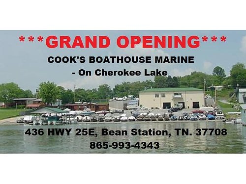 GRAND OPENING March 7th 8th  9th COOKS BOATHOUSE MARINE - On Cherokee Lake Formally Lindas Lak