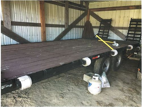 GOOSENECK TRAILER flatbed dove tail 16 trailer plus 4 tail that raises and lowers hd wtandem ax