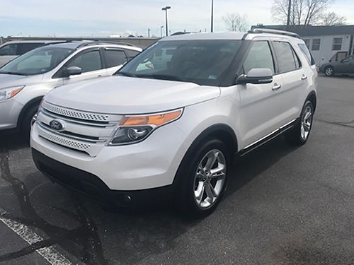 2013 FORD EXPLORER 4x4 Limited leather pearl white 7512 17800 VADLR - CRABTREE BUICK GMC Bris