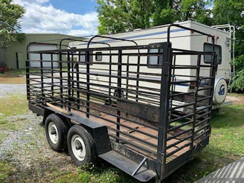 CATTLE TRAILER tandem axle ready for use GC 1550 423-677-5659