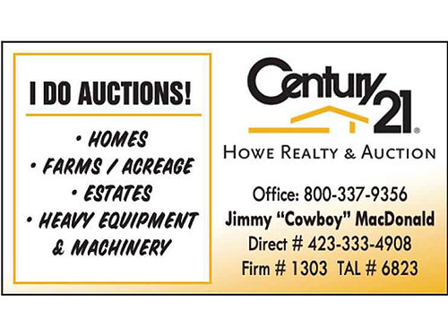CALLING ALL ATTORNEYS I DO AUCTIONS Homes Farms  Acreage Estates Heavy Equipment  Machinery HOWE