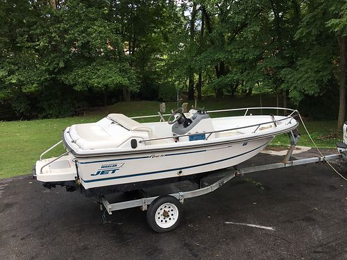 1994 BOSTON WHALER Rage I4 Jet fishing boat trailer runs good 2000