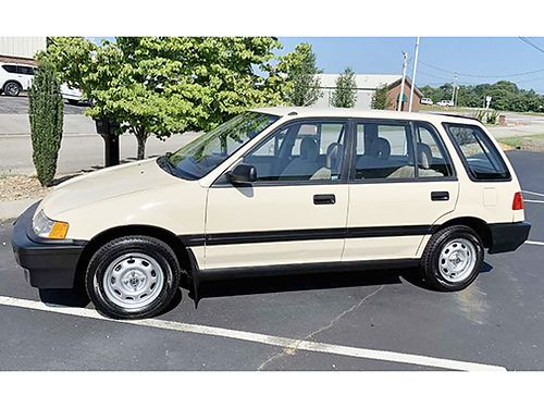 1989 HONDA CIVIC WAGON 4dr 4cyl auto Very Rare All original like new condition No body work G