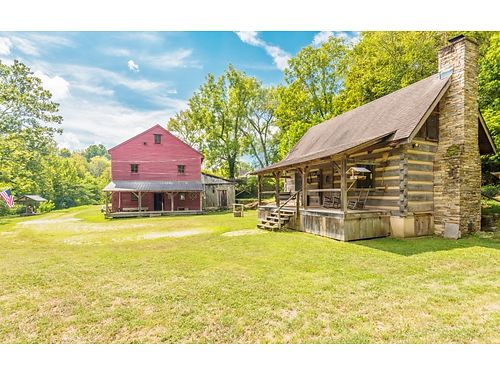 ABSOLUTE AUCTION 822 French Mill Rd Dandridge TN 37725 Log Home French Mill A Real Piece of TN