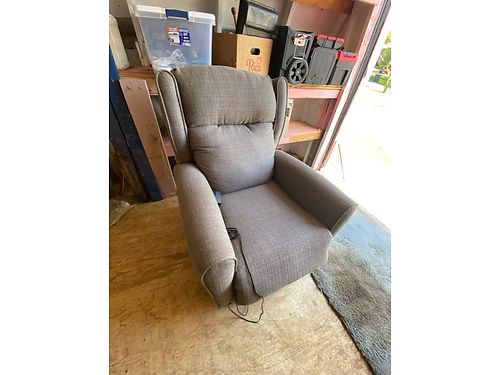 LIFT CHAIR, LARGE, BRAND NEW, BLUE-GRAY FABRIC, ...