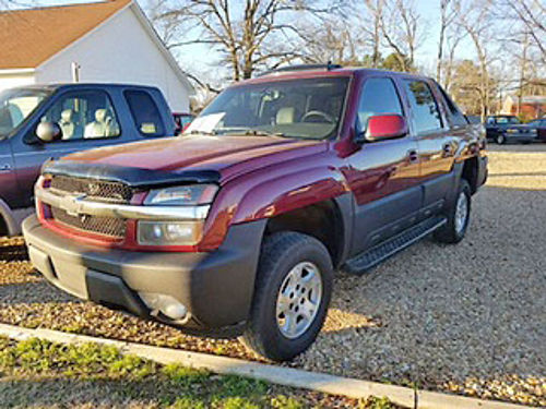 2006 CHEVROLET AVALANCHE Z71 maroon gray leather heated seats adjustable pedals factory sunroof
