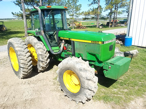 4960 JD TRACTOR 1993 model 9100 hrs MFWD w powershift solid and ready to go to work 24000 M