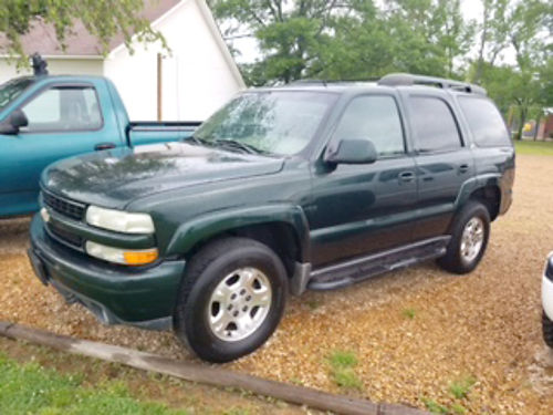 2002 CHEVROLET TAHOE Z71 4WD 53 automatic green beige leather 2-row pw pdl tiltcruise 19