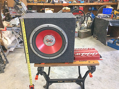 AUTOMOBILE SOUND SYSTEM Sony 12 Subwoofer and 444 Watt Amp 100 STARKVILLE