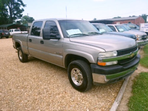 2002 CHEVROLET SILVERADO 2500 HD Duramax diesel Allison automatic crew cab with leather fold do