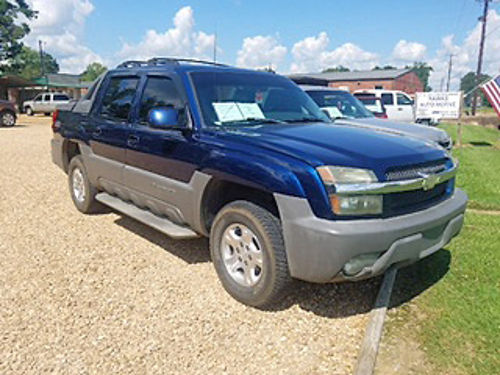 2002 CHEVROLET AVALANCHE Z71 4WD 53 blue gray leather sunroof tinted windows pw pdl tiltc