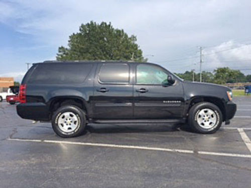 2012 CHEVROLET SUBURBAN LT black with gray leather heated seats rear entertainment power seats