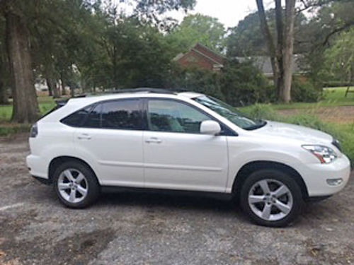 2007 LEXUS RX350 white wtan leather sunroof pw pdl power seats AMFMCD traded in on a new L