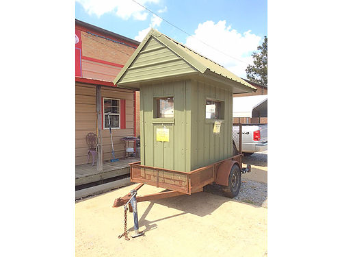 13345 SHOOTING HOUSE WITH TRAILER AND STABILIZERS INSULATED AND VERY WELL BUILT 900 GREENWOOD