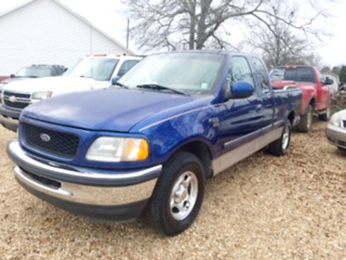 1998 FORD F-150 XLT ext cab 3-door 2WD 46 automatic blue beige cloth 280k 2000 HAWKS A