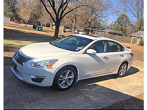 2014 NISSAN ALTIMA SL 4 cylinder white tan leather interior moon roof new tires one owner 61k