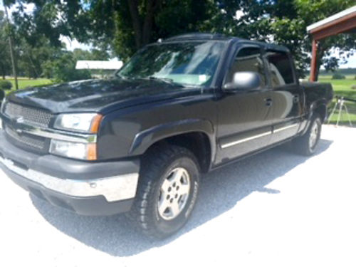 2005 CHEVROLET SILVERADO LT crew cab Z71 53 automatic charcoal gray gray leather factory sun