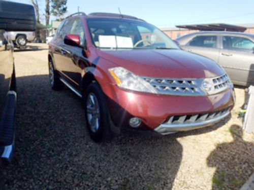 2007 NISSAN MURANO SL 35 V6 automatic maroon beige leather factory sunroof backup camera chr