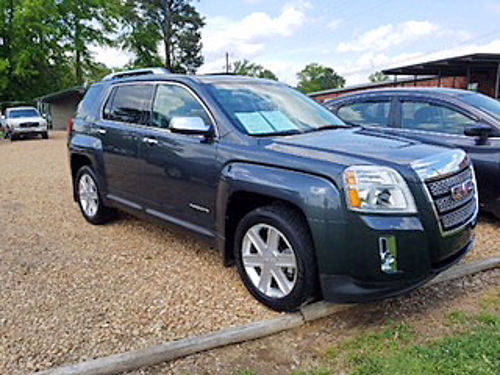 2010 GMC TERRAIN SLT V6 automatic charcoal gray grayblack leather factory sunroof entertainme