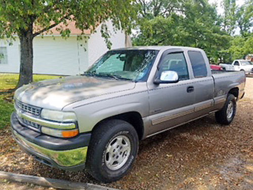 2000 CHEVROLET SILVERADO LS ext cab Z71 4WD one owner pewter wgray cloth alloy wheels pw p