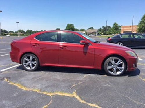 2009 LEXUS IS250 146k miles crimson wblack leather sunroof polished chrome wheels loaded with