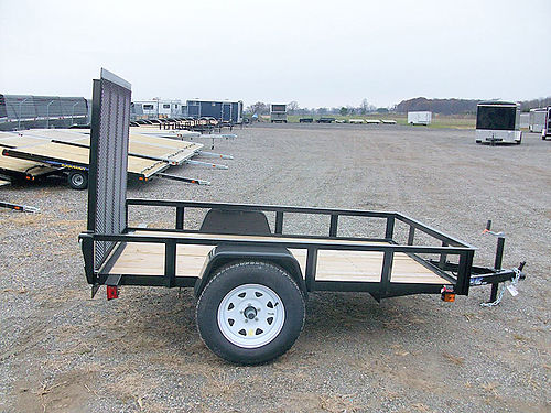 OPEN HD Utility Trailers low sides tube top rear ramp powder coated treated floor sizes from 5