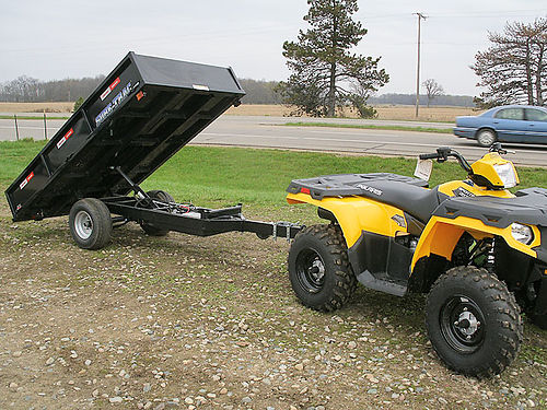 DUMP Trailer for Home Owners 45x8 narrow for hauling wood deer or rocks power up and down dumps