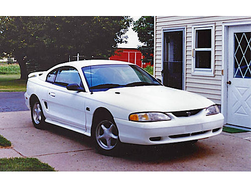 1994 FORD Mustang GT white new engine 40000 miles new clutch rear pressure seal radiator ti