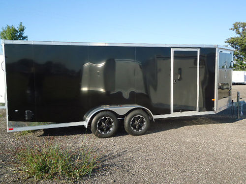 ALUMINUM Inline Snowmobile trailers 7x18 two place to 7x28 five place helmet cabinets available i
