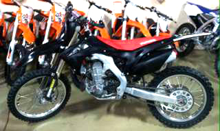2013 HONDA CRF 450R black loaded 0 down financing available Fall blowout special only 4388