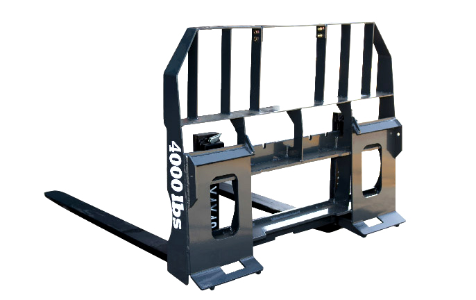 NEW Tera Force PF46C pallet forks 48 length tines rail style universal QA bracket 4000 lb rated