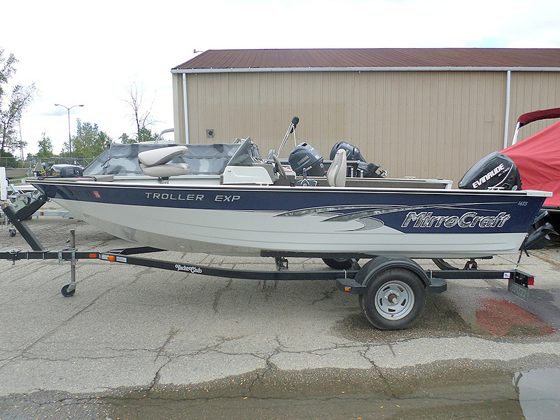 2011 MIRROCRAFT Troller EXP 9470 60 hp Evinrude trailer included 13995