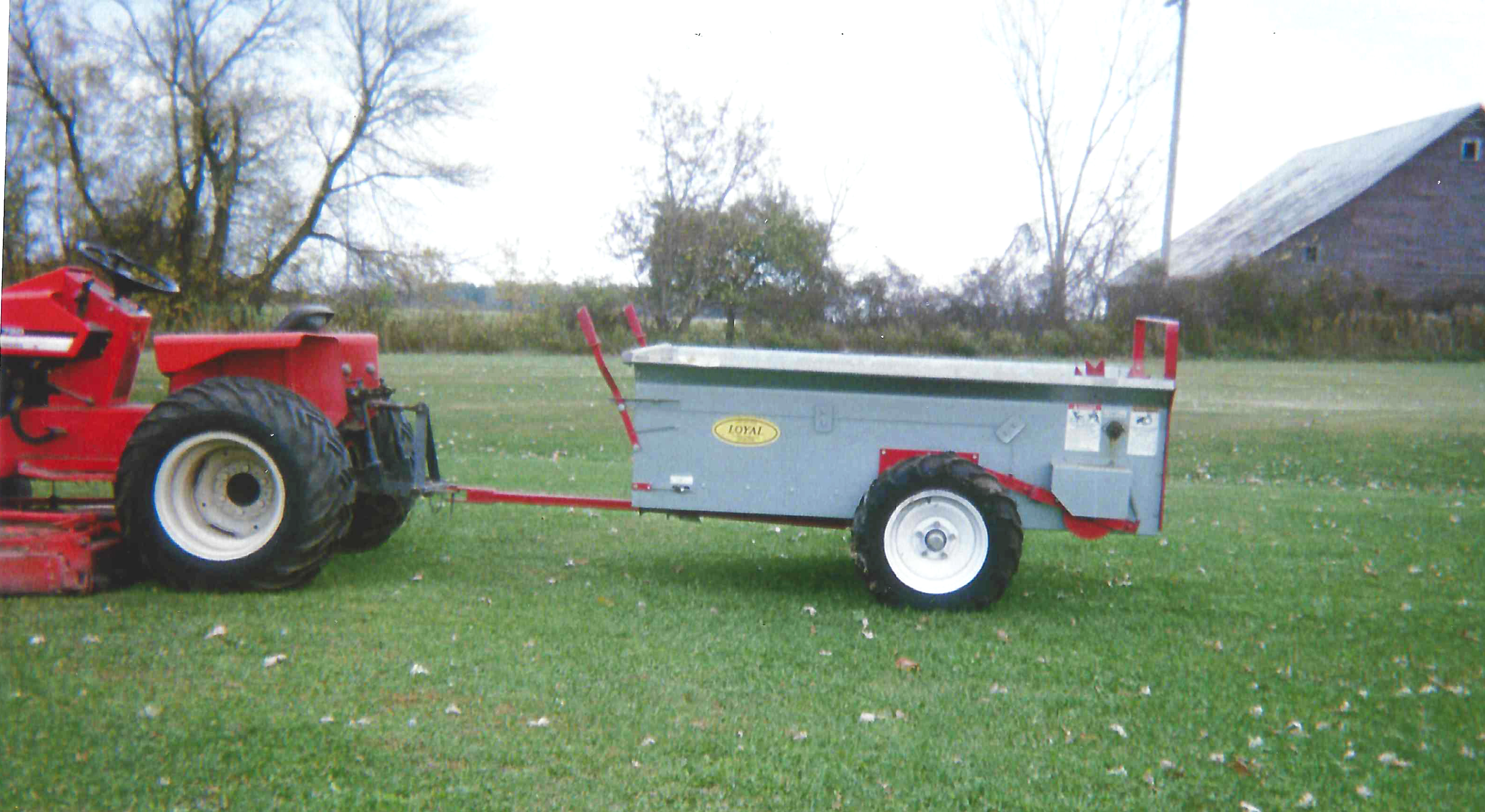 2015 GROUND Drive Spreader brand new - never used new tires galvanized metal was 2250 buy now