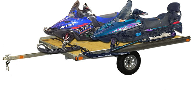 POLARIS Snowmobile Family Pack 900 Switchback and Indy 600 Touring with new trailer 2 helmets 2 n
