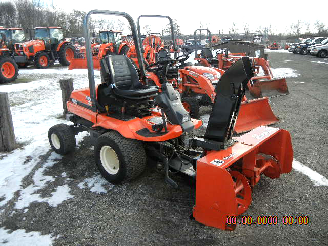 1999 KUBOTA F3060 with 2 stage ft snow blower and 60 front deck 30 HP 4 cyl diesel power steerin