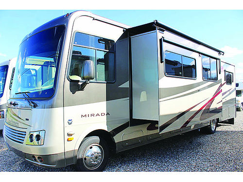 2012 COACHMEN MIRADA 34 BH Class A 2 AC units generator levelers huge storage siderearview ca