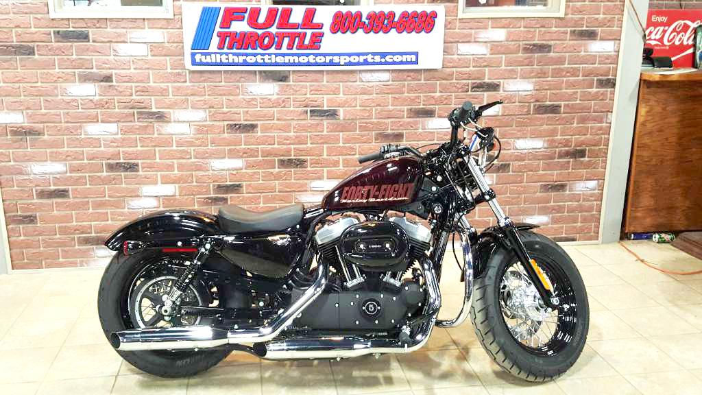 2014 HARLEY-DAVIDSON Sportster Forty Eight only 273 miles like new black and cayenne sunglo 0 d
