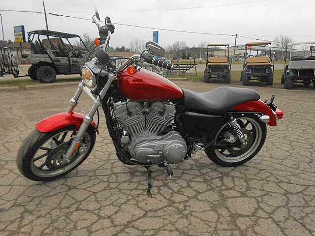 2012 HARLEY-DAVIDSON Sportster 883 super low ember red sunglo only 4699