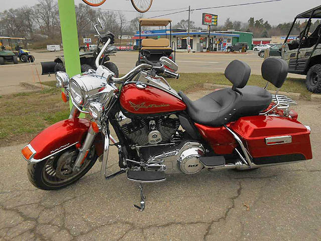 2013 HARLEY-DAVIDSON Road King two-tone candy orangebeer bottle super nice twin cam 103 with int