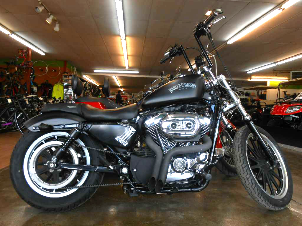 2007 HARLEY-DAVIDSON Sportster 1200 Nightster only 23137 miles vivid black clean-custom exhaust