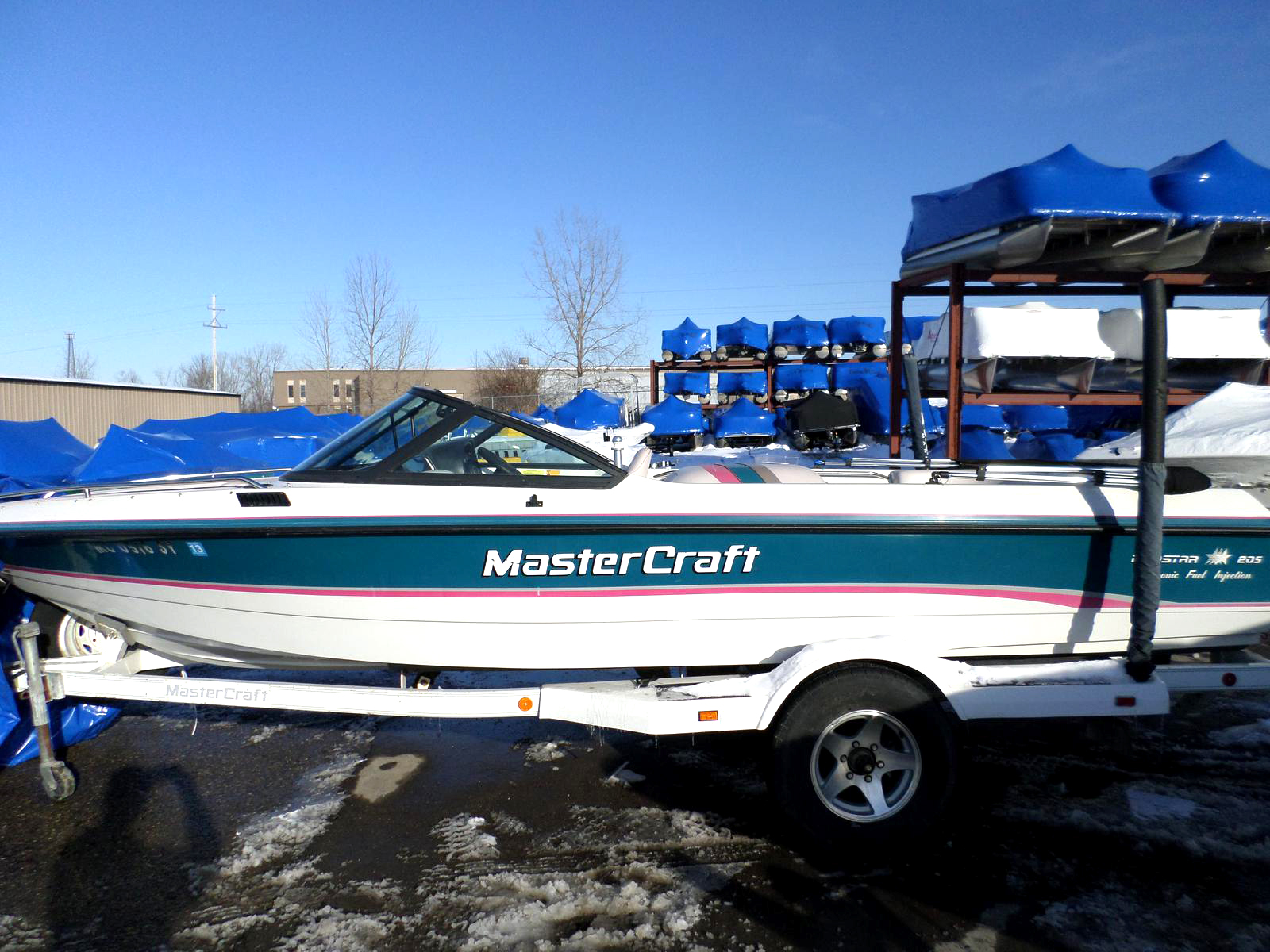 1994 MASTERCRAFT Prostar 205 9368 20 full cover bimini top trailer included 10995