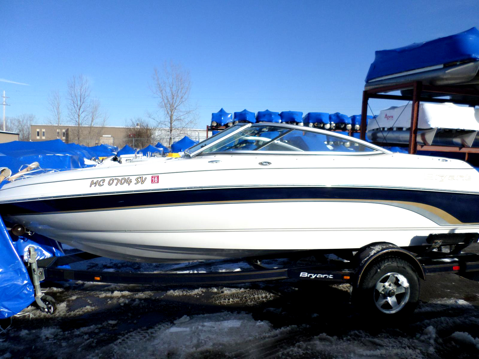 2005 BRYANT 190 9383 43L V6 Mercruiser low hours trailer included 16500