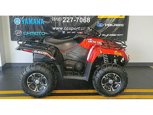 2013 ARCTIC Cat 550 XT sunset orange power steering 4x4 with differential lock best financing i