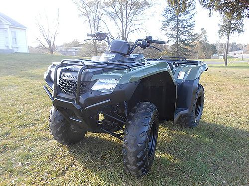2014 HONDA FourTrax Rancher ES 420cc olive nice condition only 3999