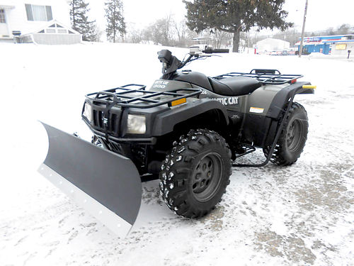 2004 ARCTIC Cat 300 4x4 green with plow nice shape only 3799