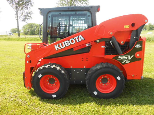 KUBOTA SSV75HFC Skid Steer new 743hp 4 cyl diesel hydraulic cuppler high flow factory heata