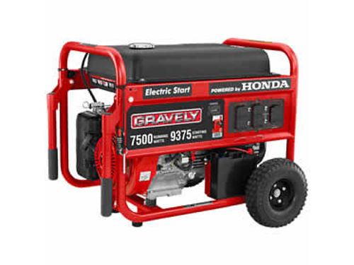GRAVELY Generators 986052 Honda GX390 electric start engine 7500 watt continous output electric