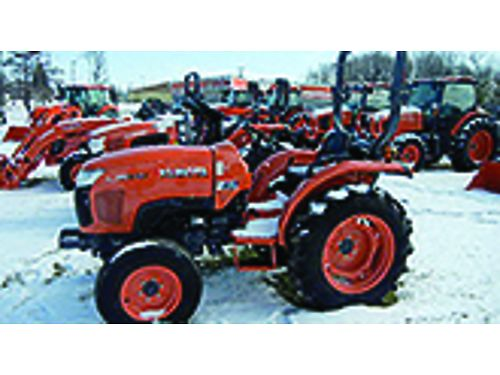 NEW Kubota Ag Tires L3800I 374 HP 3 cyc diesel power steering 2WD life PTO ask about 0 at 72