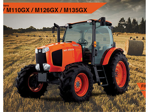 KUBOTA M135GXDTC-I NEW only 1 135 HP 4 cylinder diesel turbo charged intercooled factory heat